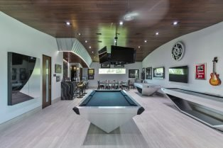 Las Vegas Residence Neolith Game Room Bar and Interior Flooring