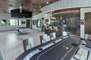 Las Vegas Residence Neolith Game Room Interior Bar Countertops and Flooring