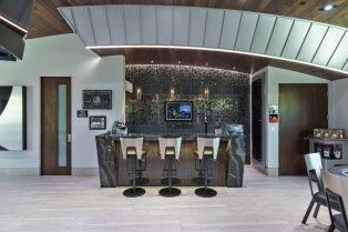 Las Vegas Residence Neolith Interior Bar Countertops, Wall Cladding and Flooring