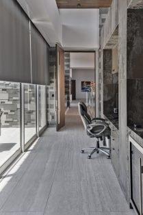 Las Vegas Residence Neolith Interior Desk Countertop and Flooring