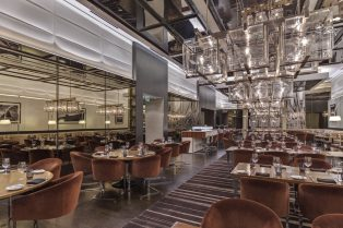 Wolfgang Puck Restaurant Las Vegas Neolith Flooring and Wall Cladding Full