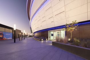 Warriors Chase Center Arena Neolith Surfaces Exterior Curved Facade
